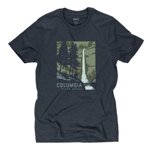 Columbia River Gorge t-shirt in midnight