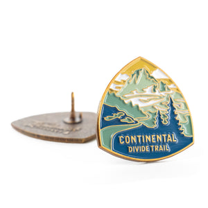 Continental Divide Trail enamel pin