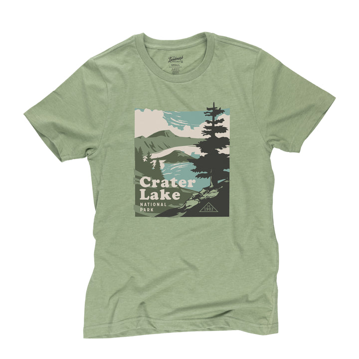 Crater Lake National Park t-shirt in cactus