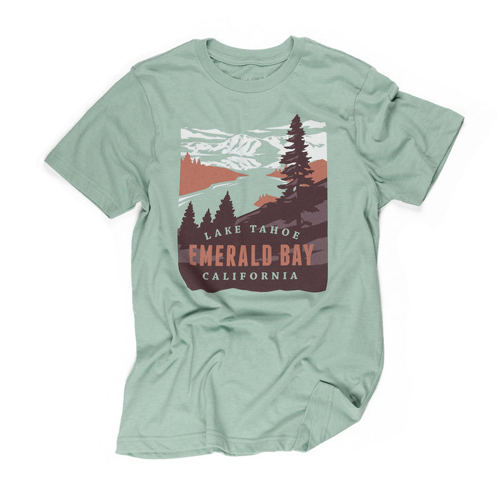 Lake Tahoe Emerald Bay t-shirt in seafoam