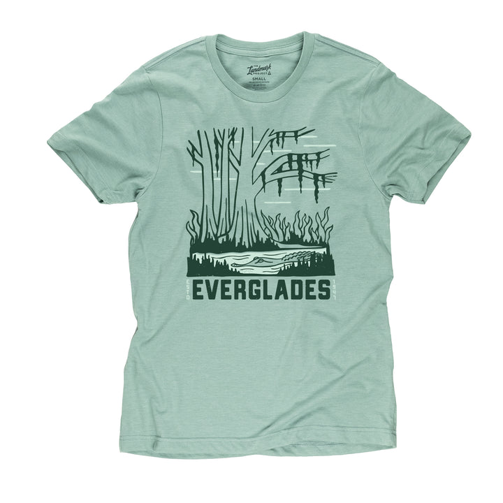 Everglades National Park motif t-shirt in seafoam