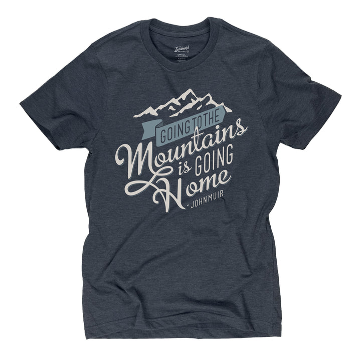 Going to the Mountains t-shirt in deep navy