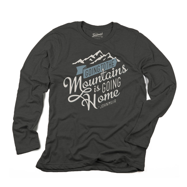 Going to the Mountains Long Sleeve in pirate black