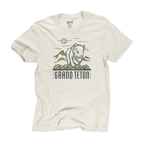 Grand Teton motif t-shirt in dune