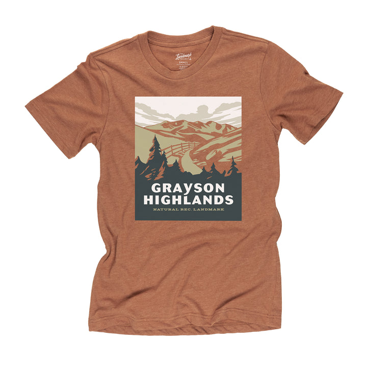 Grayson Highlands State Park t-shirt in clay