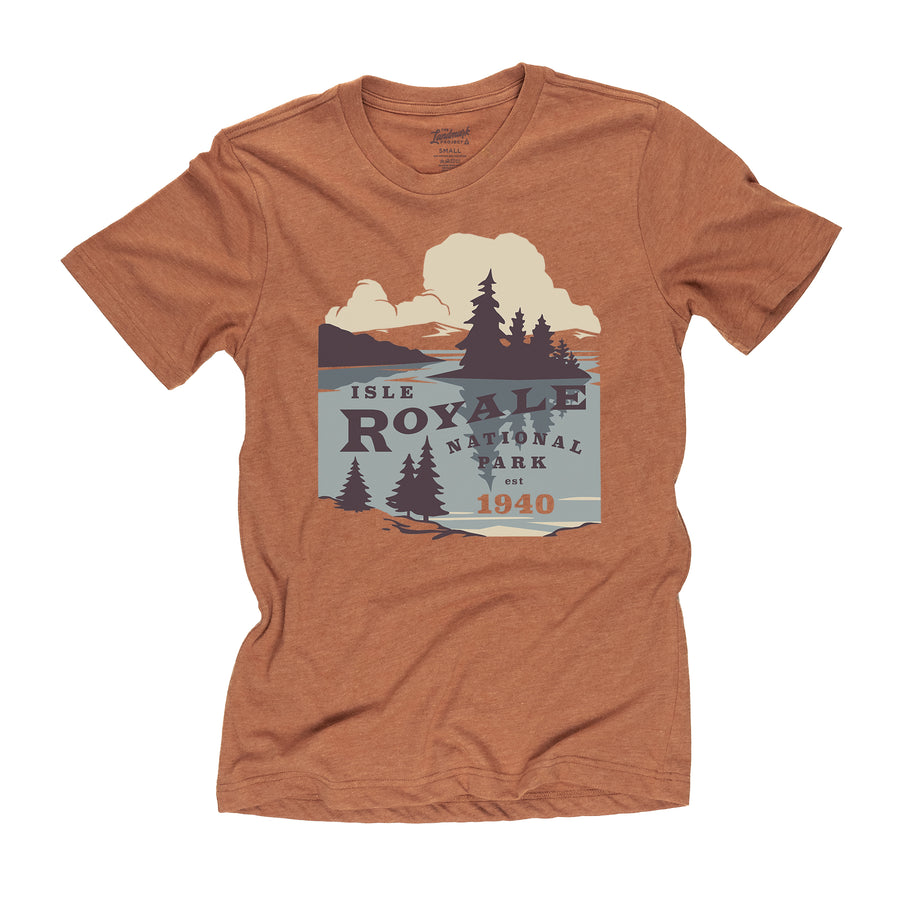 Isle Royale National Park t-shirt in clay