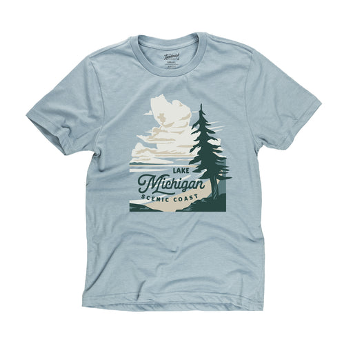 Lake Michigan t-shirt in chambray blue