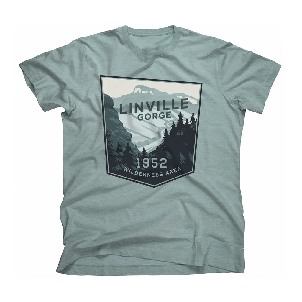 Linville Gorge Wilderness Area t-shirt in seafoam