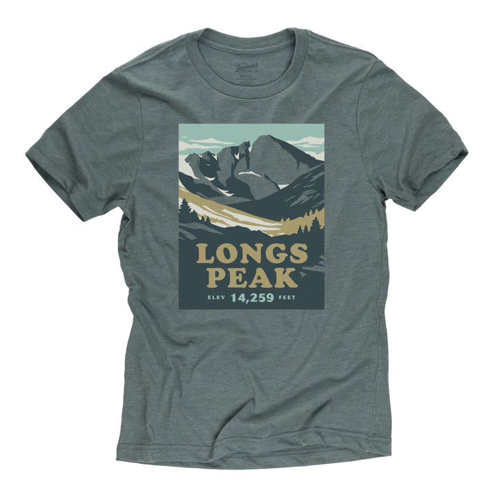 Longs Peak t-shirt in manatee