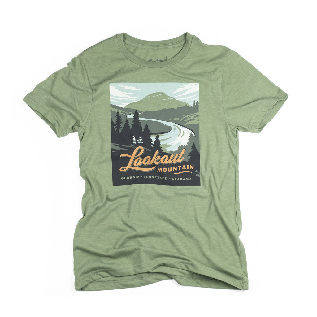 Lookout Mountain t-shirt in cactus