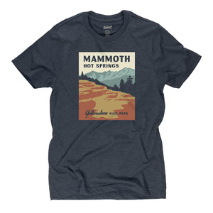 Mammoth Hot Springs t-shirt in deep navy