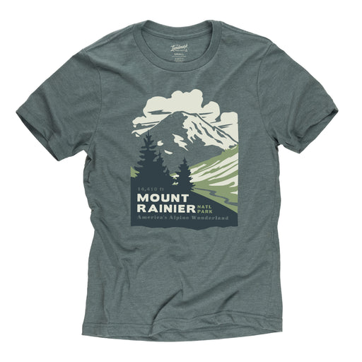 Mount Rainier National Park t-shirt in manatee