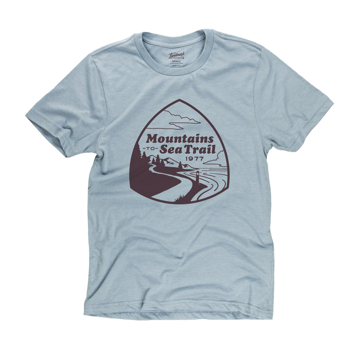 Mountains-To-Sea Trail t-shirt in chambray blue