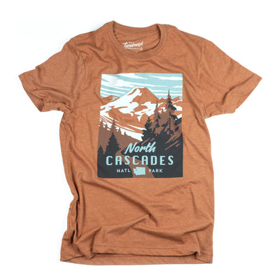 North Cascades National Park t-shirt in clay