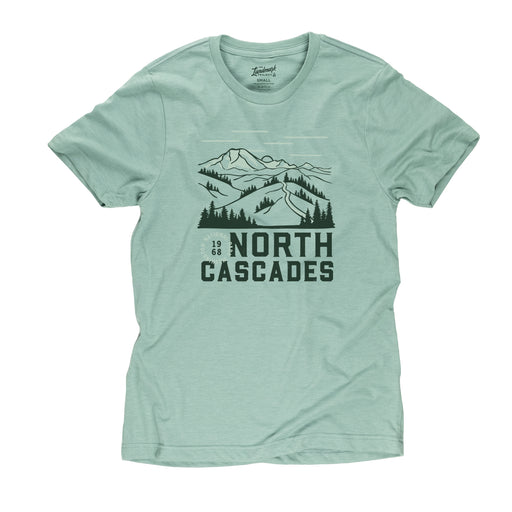 North Cascades Motif t-shirt in seafoam