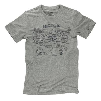NPS Map t-shirt in smoke grey