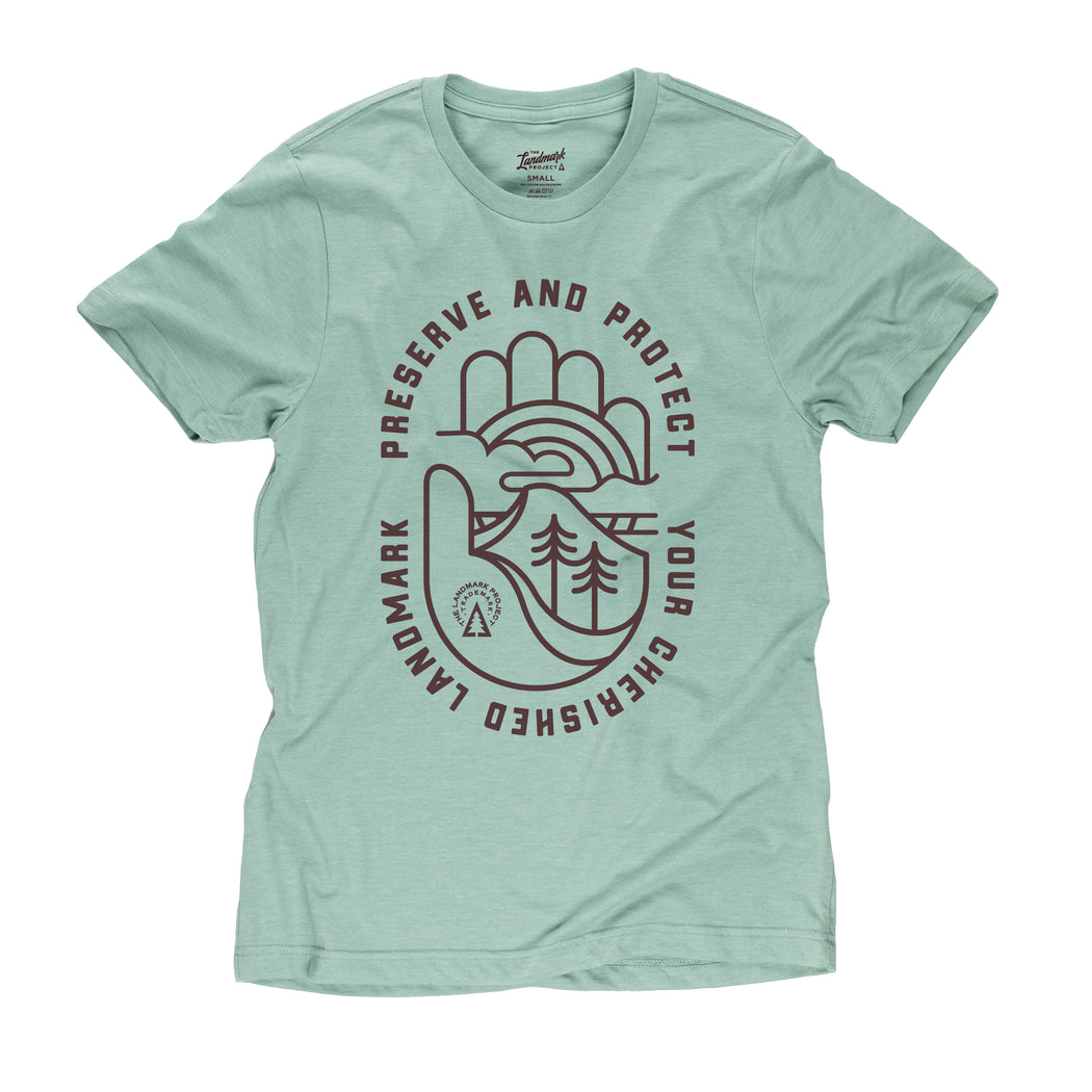 Oath To Protect t-shirt in seafoam