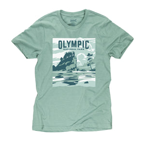 Olympic National Park t-shirt in seafoam