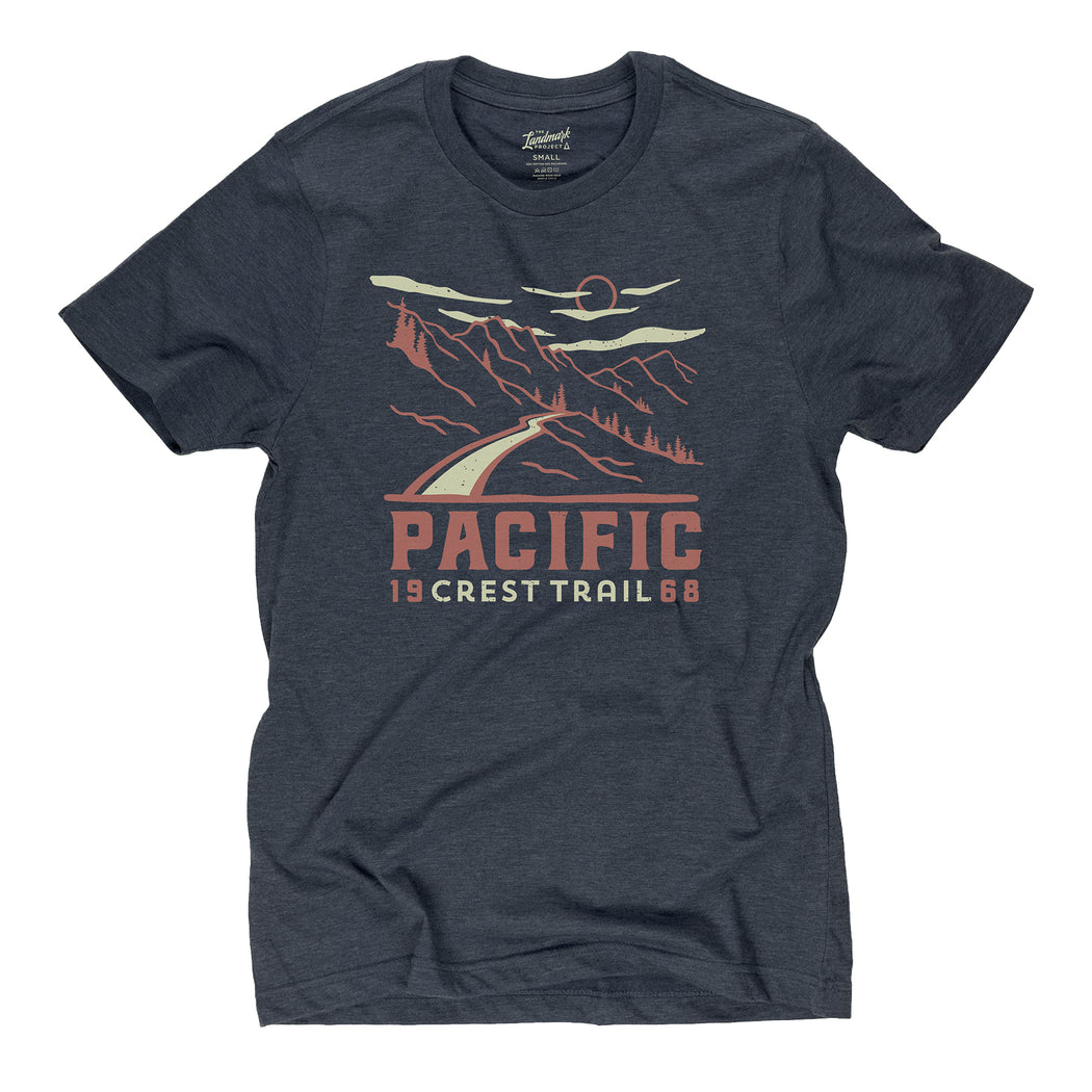 Pacific Crest Trail Motif t-shirt in midnight