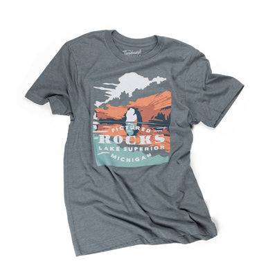 Pictured Rocks t-shirt in manatee