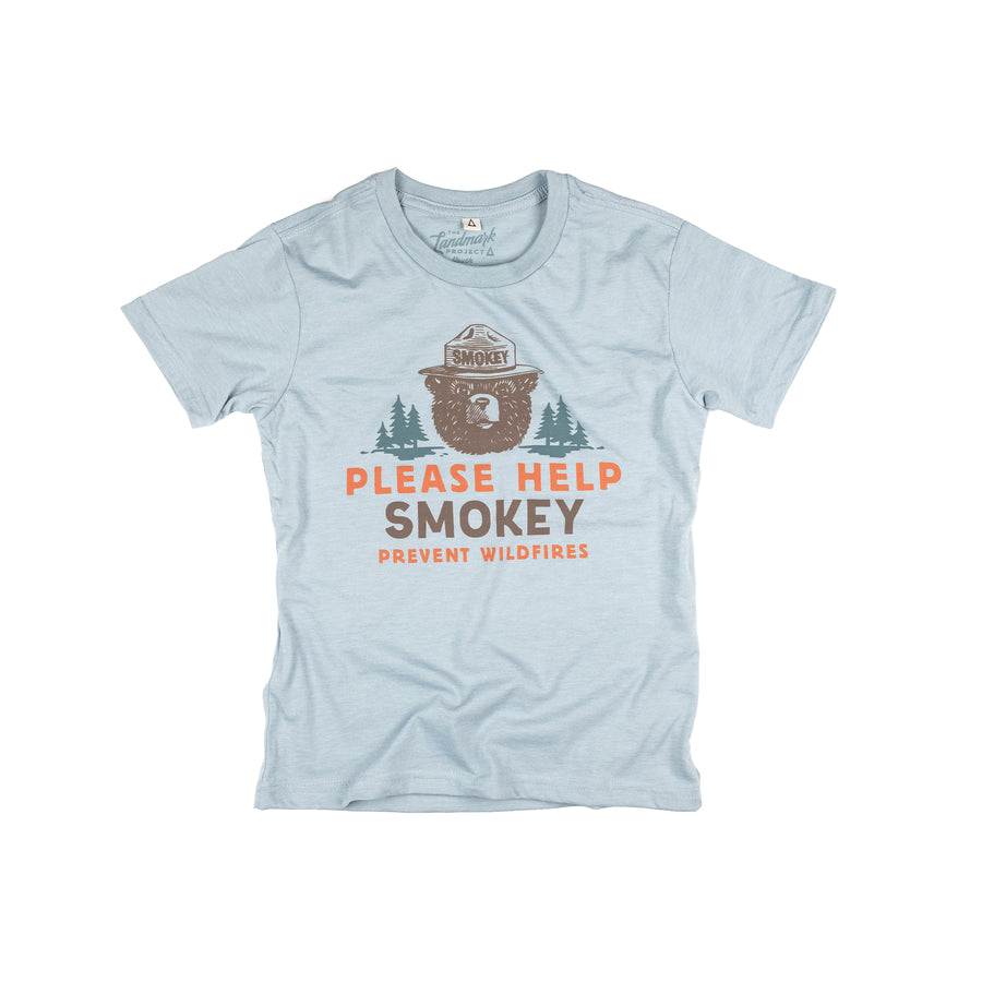 Please Help Smokey Youth t-shirt in chambray