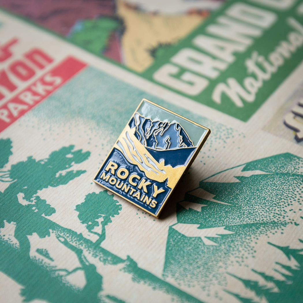 Rocky Mountains- enamel pin
