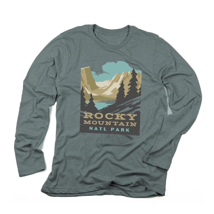 Rocky Mountains National Park Long Sleeve t-shirt in manatee