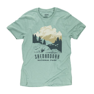 Shenandoah National Park t-shirt in seafoam