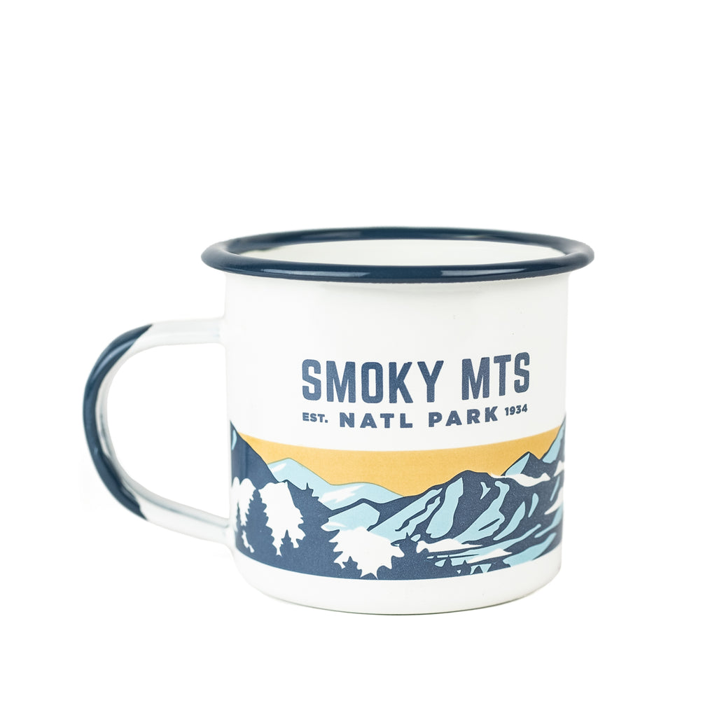 Smoky Mountains National Park Enamelware Mug