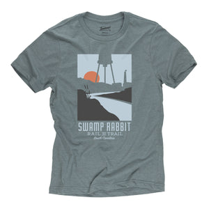 Swamp Rabbit Trail t-shirt in slate