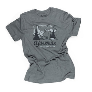 Yosemite Motif t-shirt in manatee