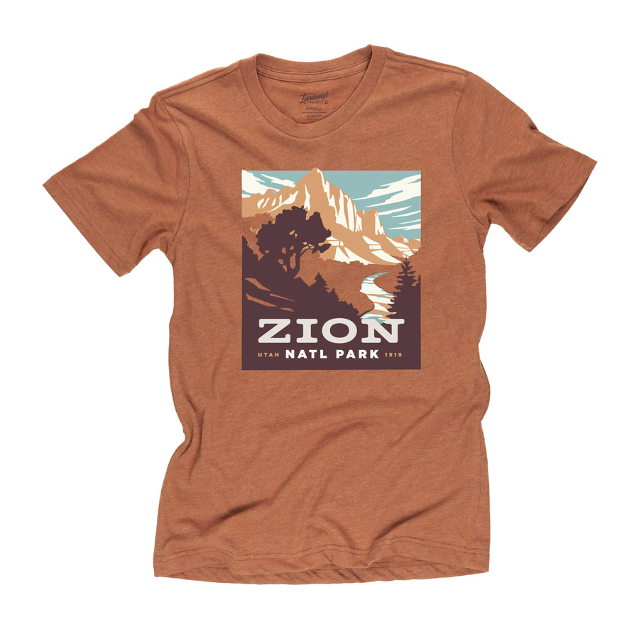 Zion National Park t-shirt in clay