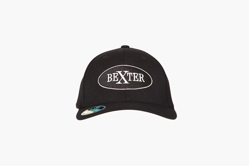 Bexter Sports baseball cap hat wool black fitted logo