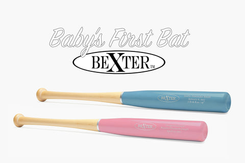 Baby's First Bat Bexter Sports design your bat custom engraving 30 colors maple baseball bat baby blue pink carolina blue