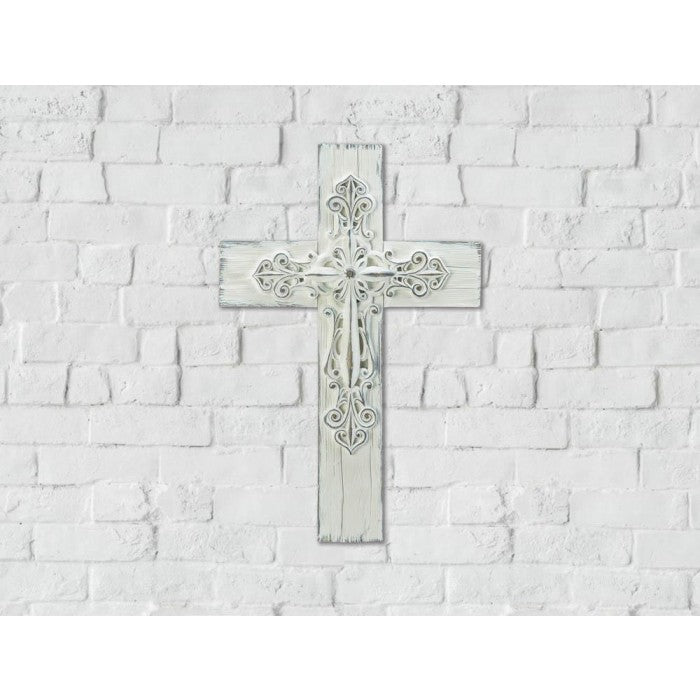 3-D Whitewashed Cross - Giftspiration