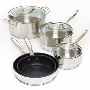 8 Pc. Stainless Steel Cookware Set - Giftspiration