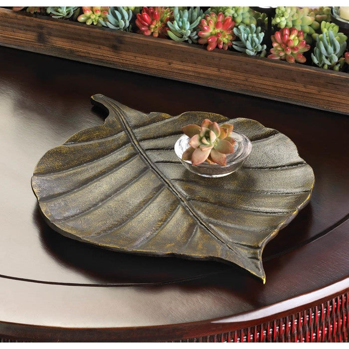 Avery Leaf Decorative Tray - Giftspiration