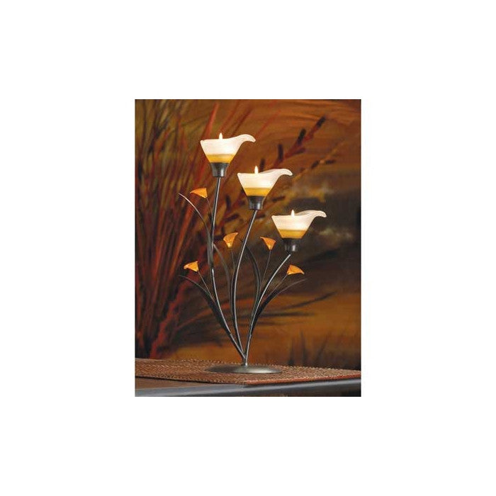 Amber Lilies Tealight Holder - Giftspiration