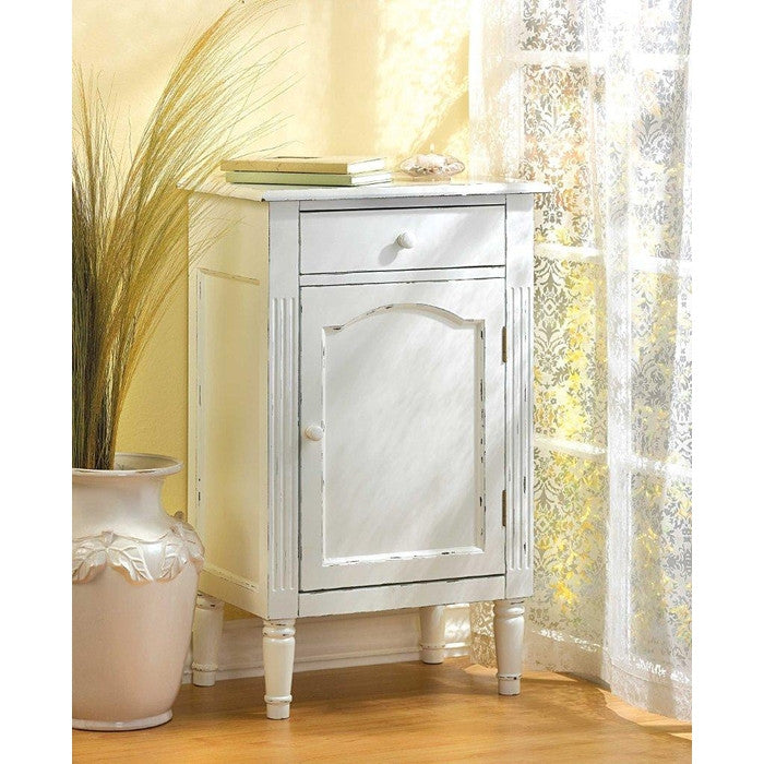 Antiqued White Wood Cabinet - Giftspiration