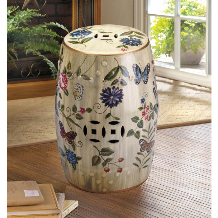 Butterfly Garden Ceramic Stool - Giftspiration