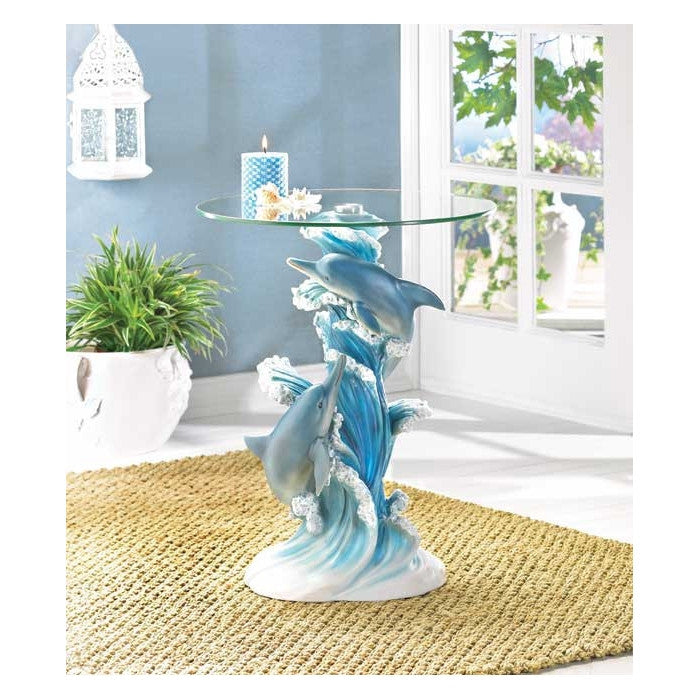 Playful Dolphins Accent Table - Giftspiration