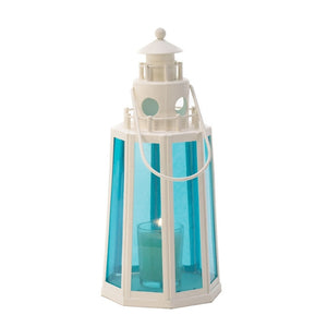 Ocean Blue Lighthouse Candle Lamp - Giftspiration