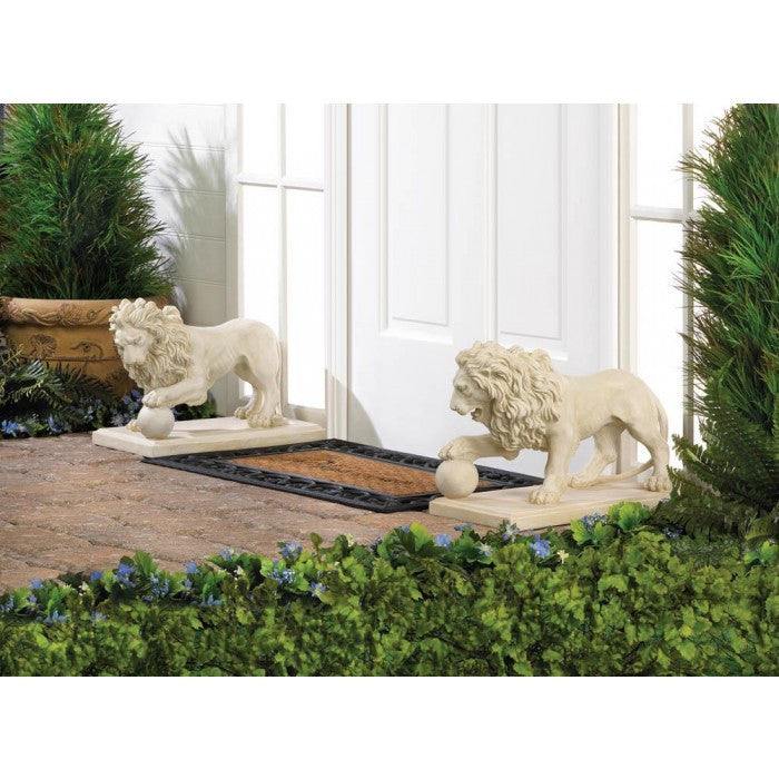 Regal Outdoor Lion Statues Duo - Giftspiration