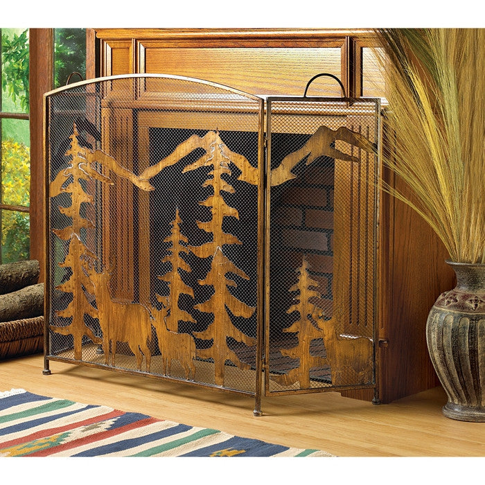 Rustic Forest Fireplace Screen - Giftspiration