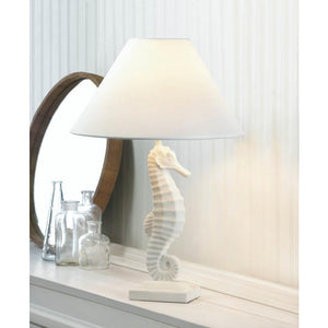 White Seahorse Table Lamp - Giftspiration