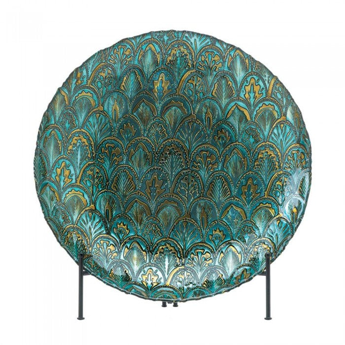 Abstract Peacock Decorative Bowl - Giftspiration