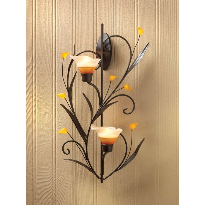 Amber Lilies Candle Wall Sconce - Giftspiration