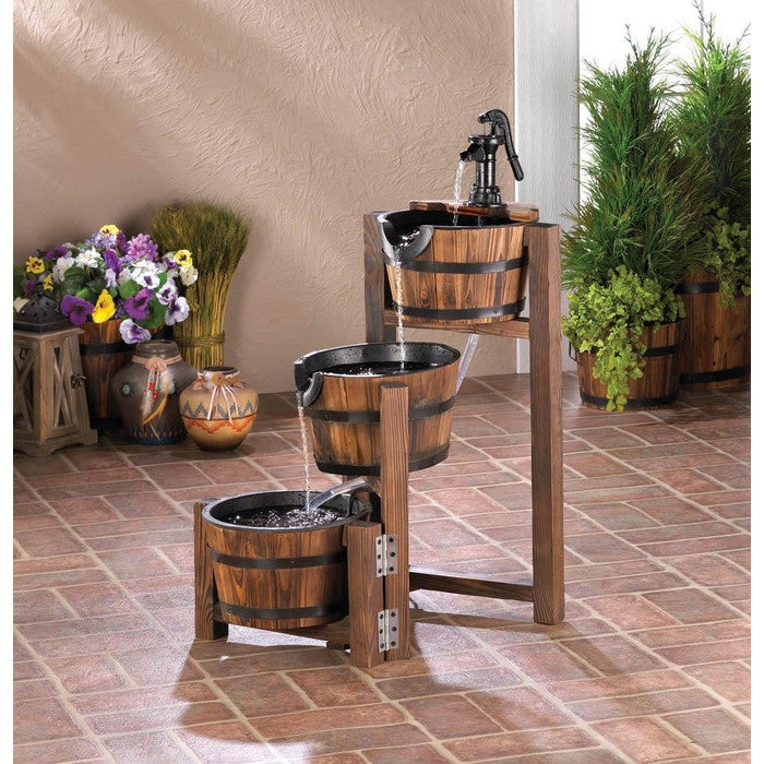 Apple Barrel Cascading Fountain - Giftspiration