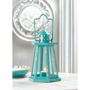 Aqua Lighthouse Mini Lantern - Giftspiration