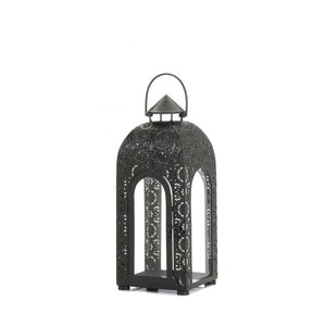 Arched Black Medallion Lantern (S) - Giftspiration